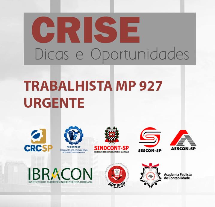 TRANSMISSÃO WEB AO VIVO – MP Nº 927/20 – REGRAS TRABALHISTAS