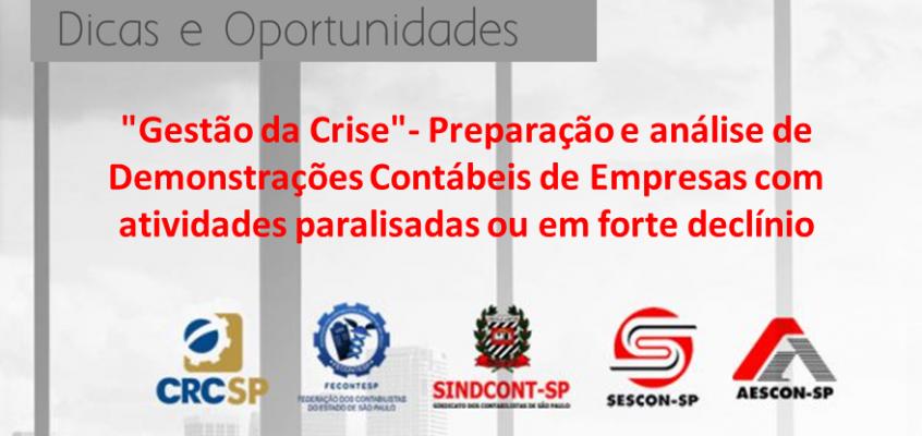 """""""Gestão da Crise""""- Preparação e análise de Demonstrações Contábeis de Empresas com atividades paralisadas ou em forte declínio"""