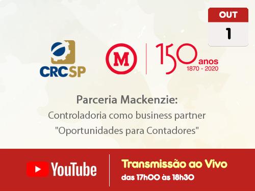Transmissão Web ao Vivo – Canal do CRCSP no YouTube