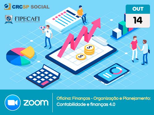 """Oficina: Finanças- Organização e Planejamento: """"Contabilidade e finanças 4.0"""""""