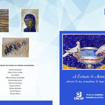 """Espaço Cultural inaugura em 12 de julho exposição """"A Evolução do Mosaico através do seu Cromatismo de Luzes e Cores"""""""