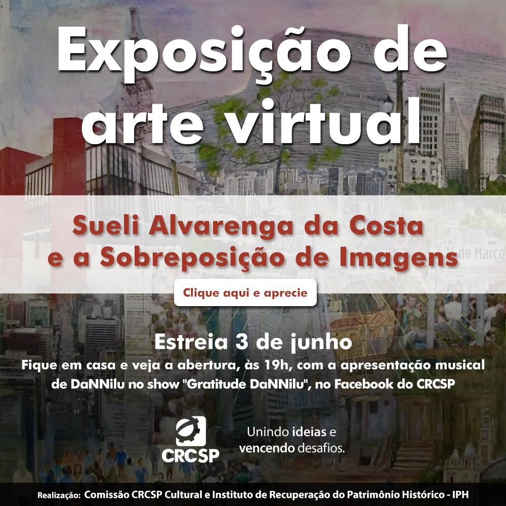 Próxima exposição de arte na galeria virtual do CRCSP homenageará a cidade de São Paulo
