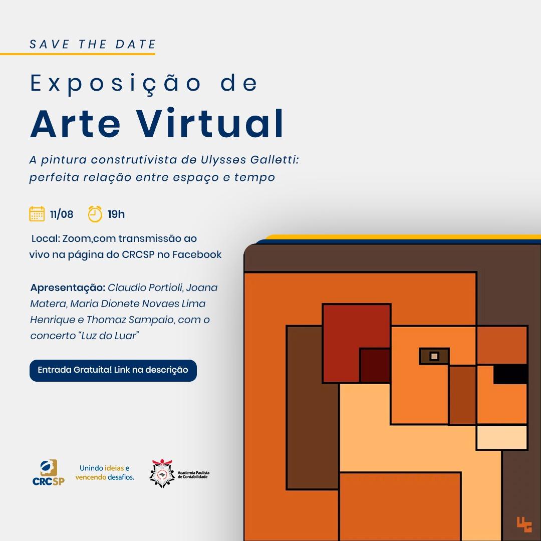 """""""A pintura construtivista de Ulysses Galletti"""" será a nova exposição na galeria virtual de arte do CRCSP"""