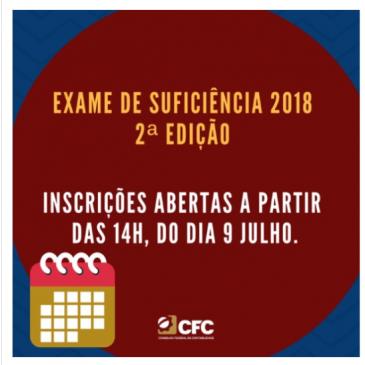 2º Exame de Suficiência 2018: início das inscrições em 9 de julho