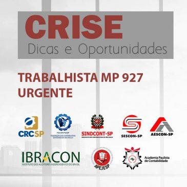 TRANSMISSÃO WEB AO VIVO – MP Nº 927/20 REGRAS – TRABALHISTAS
