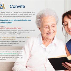 Comissão do CRCSP promove palestra sobre atividade Intelectual na Melhor Idade