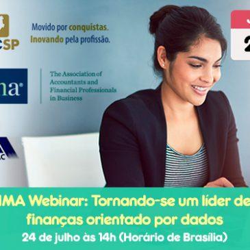 IMA Webinar: Tornando-se um líder de finanças orientado por dados  objetivos de aprendizado