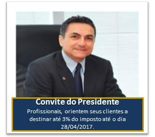 Convite do Presidente – Destinação Solidária.